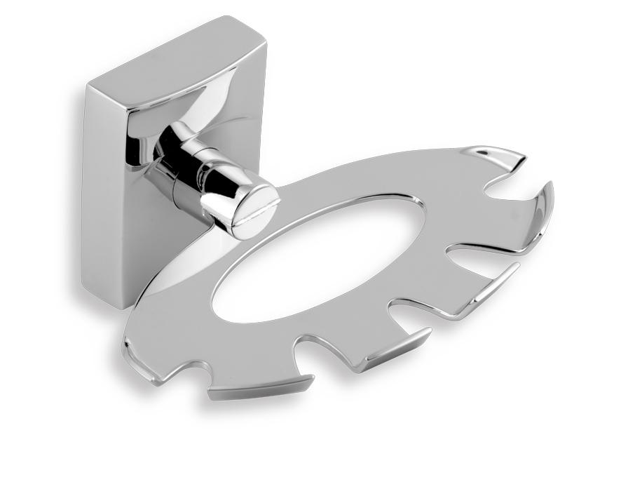Držák kartáčů a pasty Metalia 12 chrom