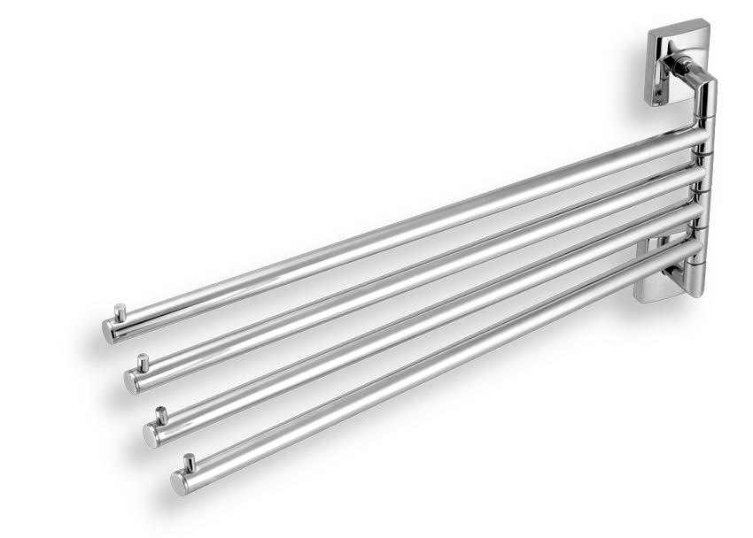 Čtyřramenný držák ručníků Metalia 12 chrom