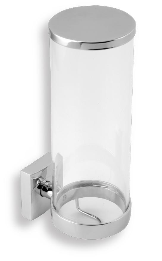Zásobník na kosmetické tampony sklo Metalia 12 chrom