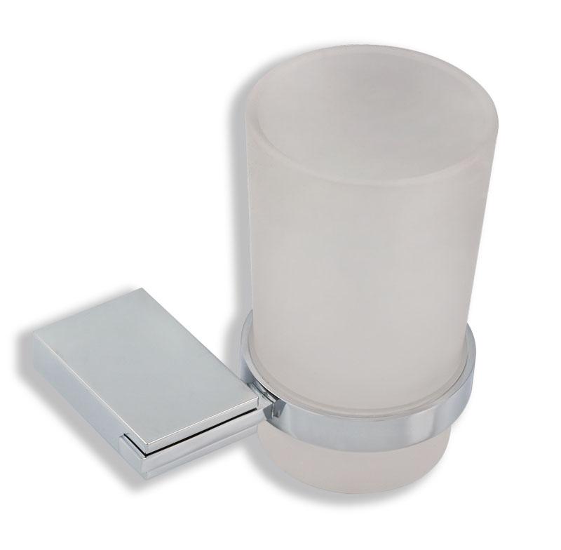 Držák kartáčků a pasty sklo Metalia 9 chrom