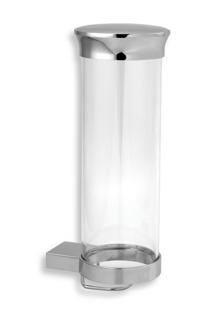 Zásobník na kosmetické tampony sklo Metalia 9 chrom