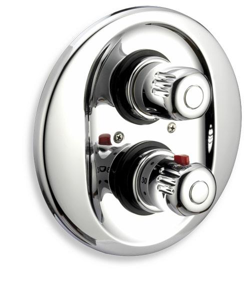 Sprchová baterie termostatická podomítková Aquamat chrom