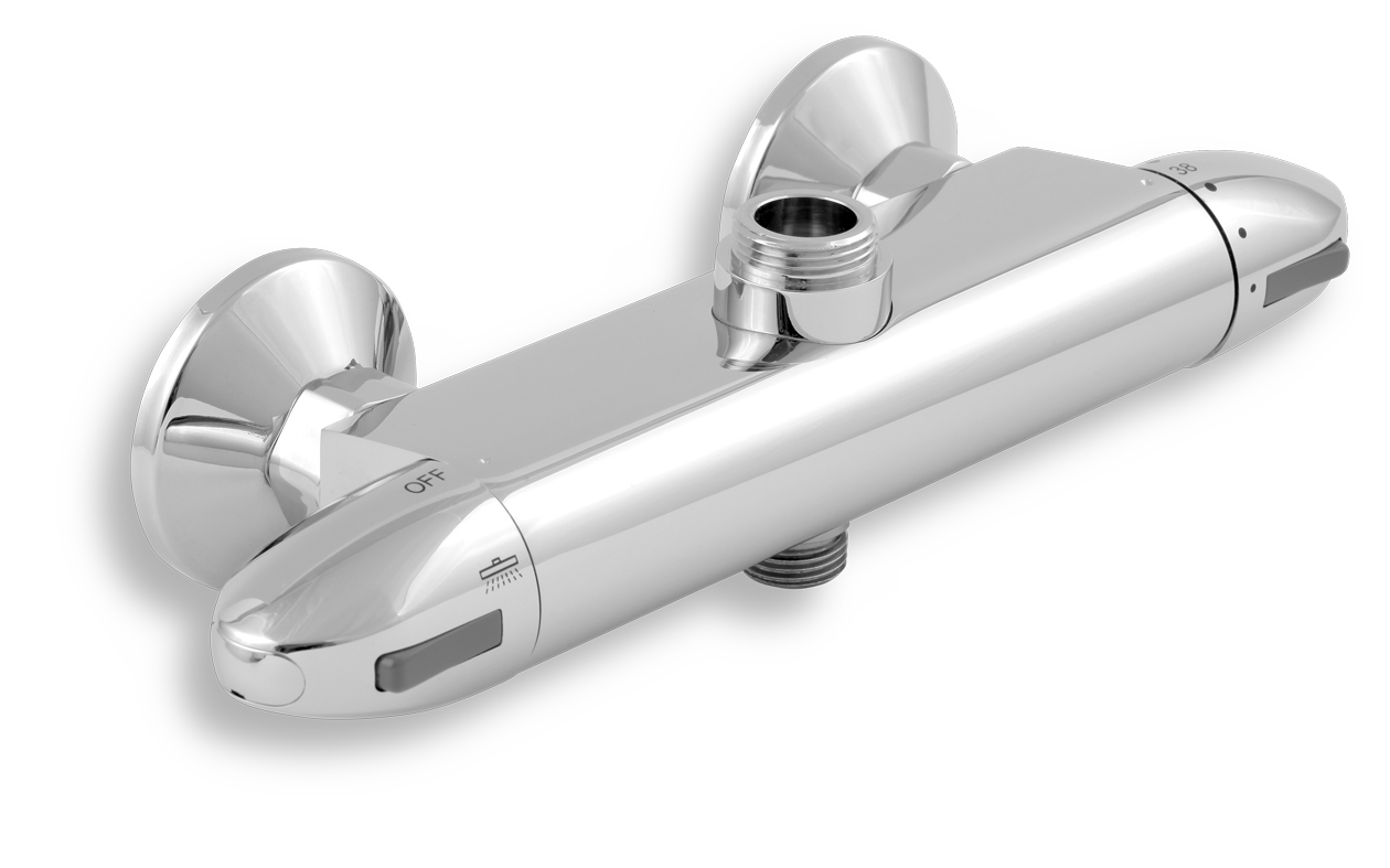 Sprchová termostatická baterie s dolním a horním vývodem 150
