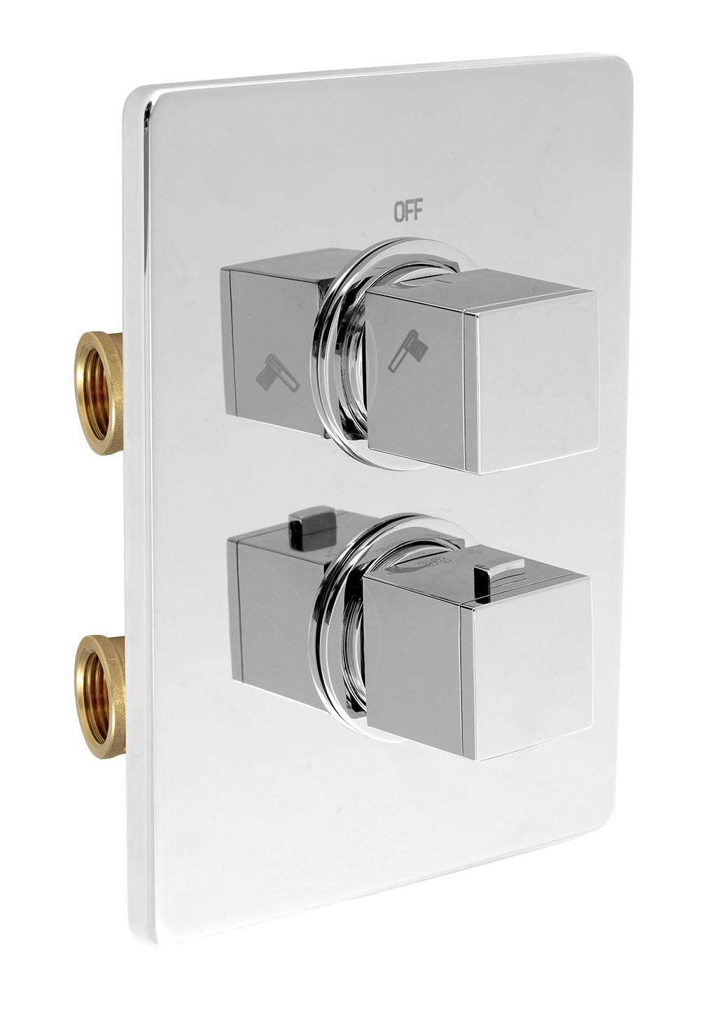 Sprchová termostatická baterie 2-cestný ventil chrom