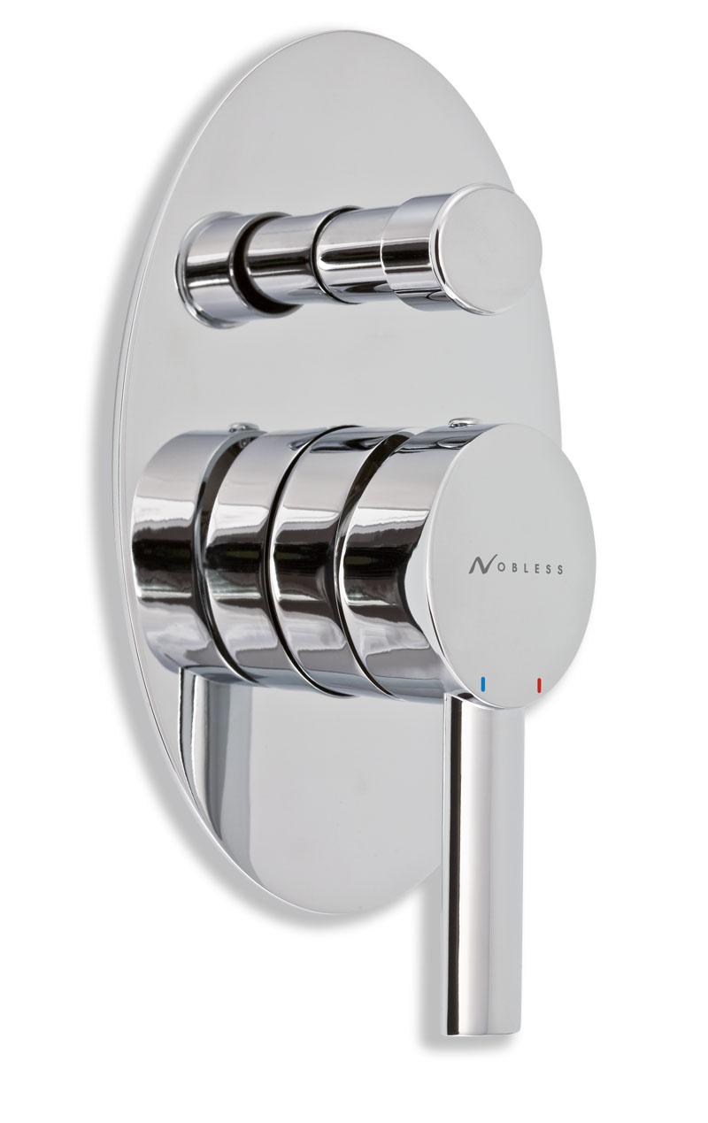Vanová sprchová baterie s přepínačem OVAL chrom
