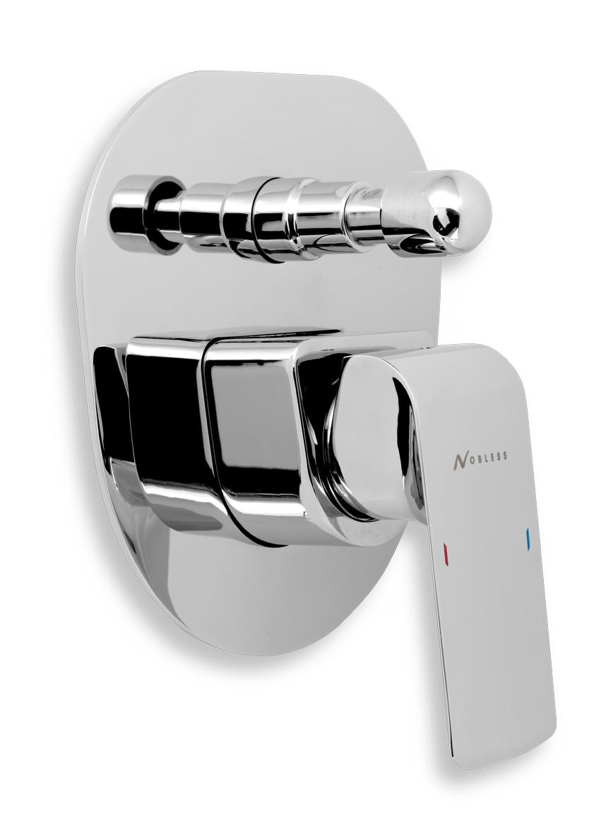 Vanová sprchová baterie s přepínačem KVADRO chrom