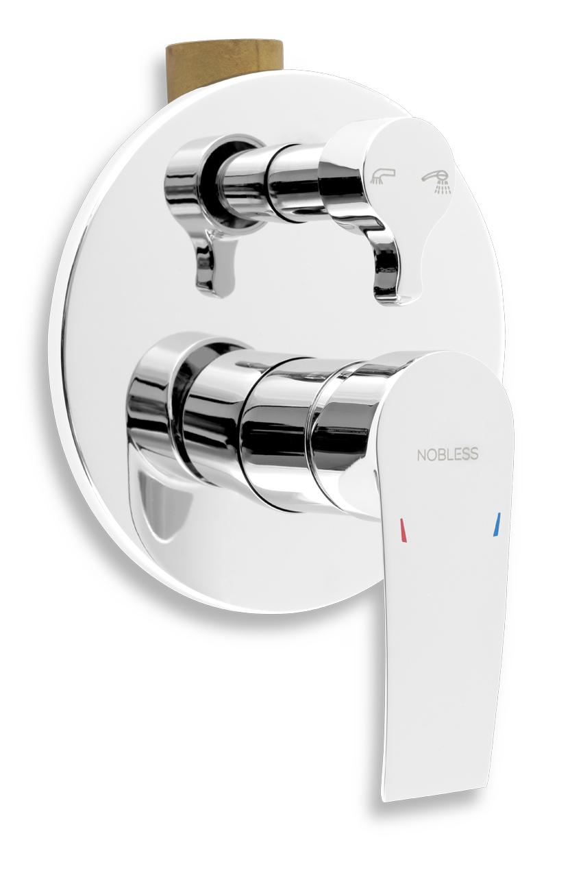 Vanová sprchová baterie s přepínačem Nobless Heda chrom