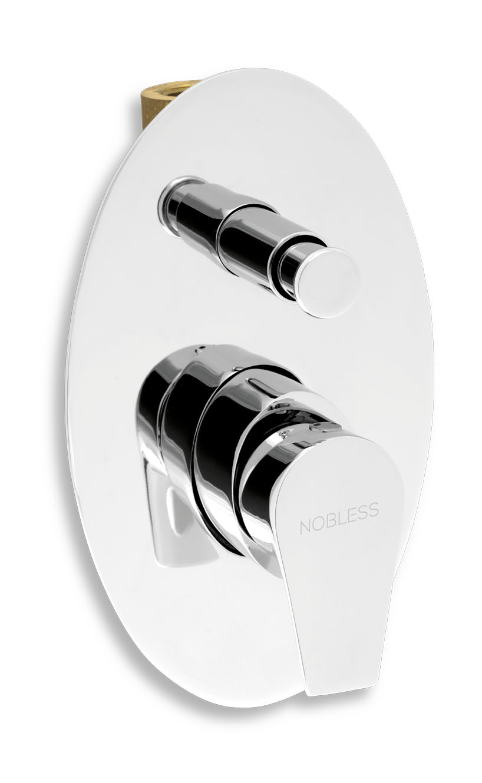 Novaservis Nobless Vision X - Vaňová batéria pod omietku s prepínačom a telesom, chróm, 42050R,0