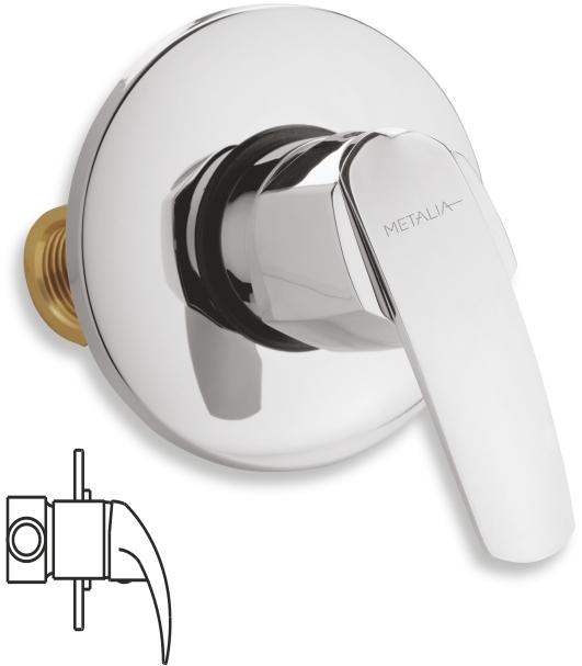 Sprchová baterie podomítková Metalia 56 chrom
