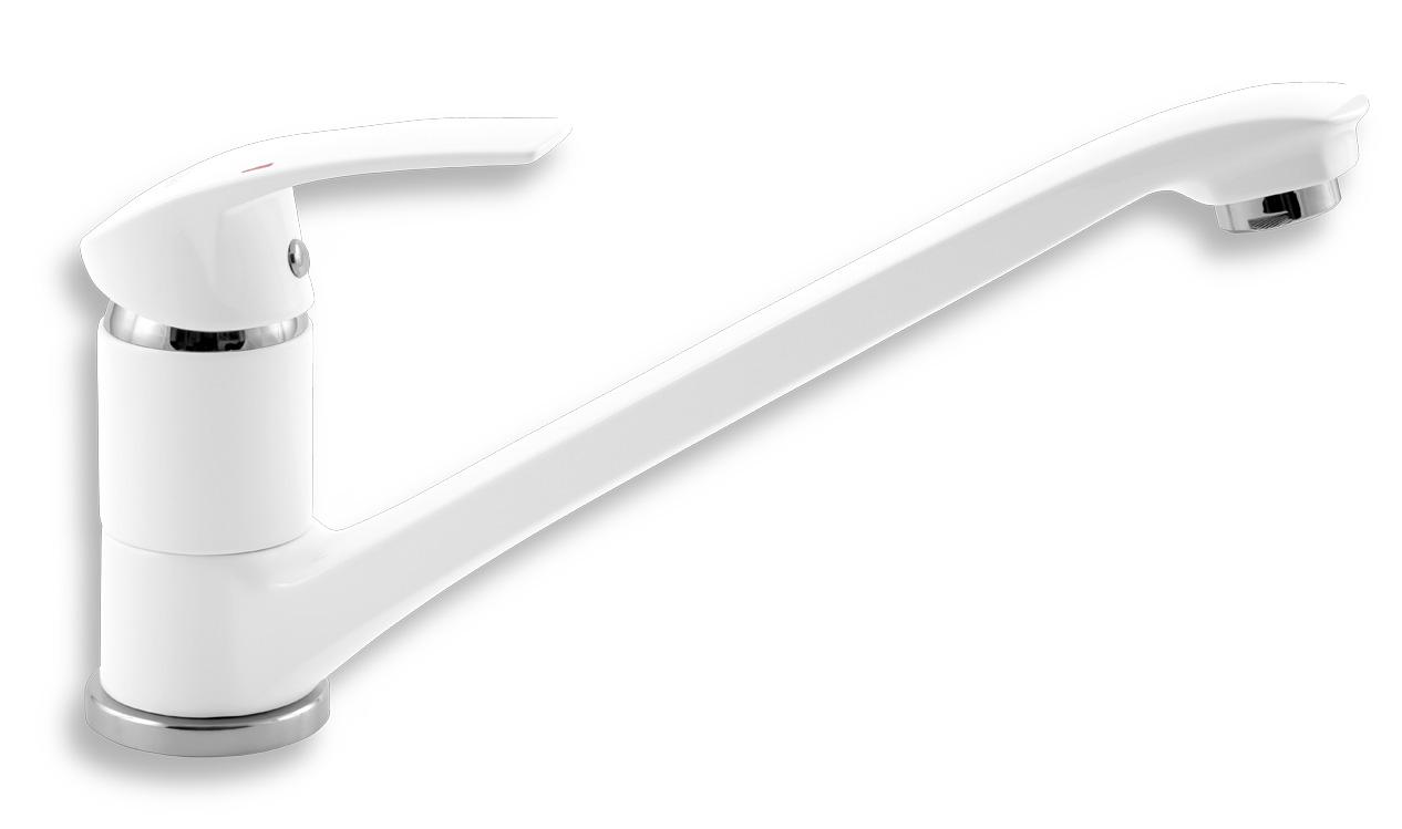 Dřezová baterie Metalia 57 bílá