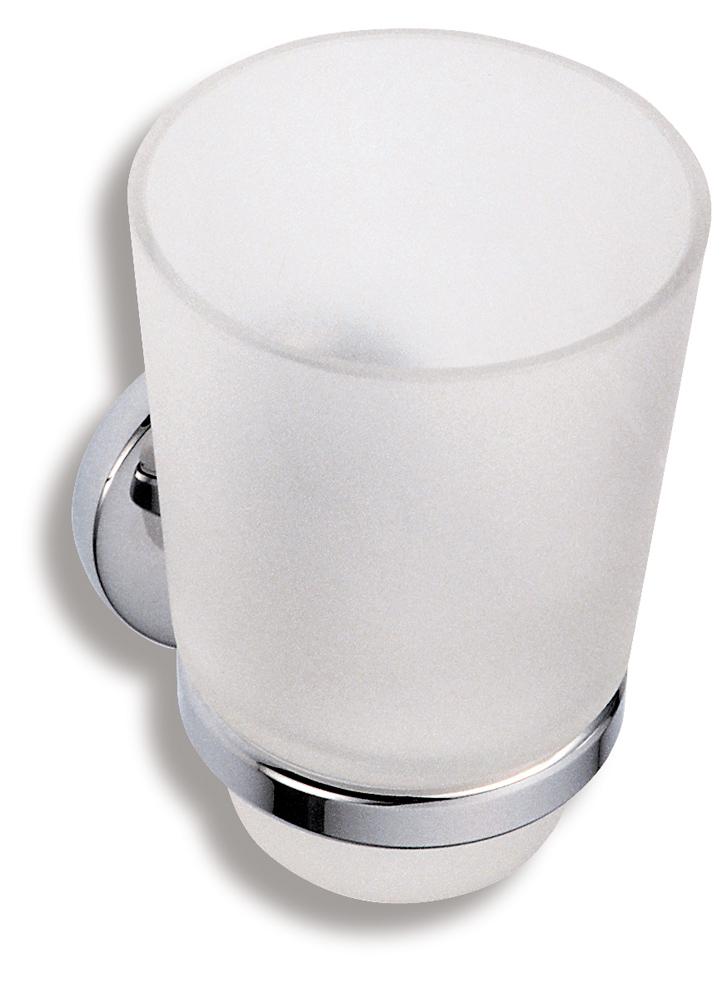 Držák kartáčků a pasty sklo Metalia 1 chrom