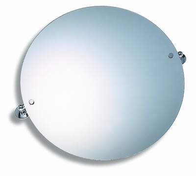 Zrcadlo s výklopným držákem kulaté 50 cm Metalia 1 chrom