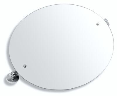 Zrcadlo s výklopným držákem ovál 60x50 cm Metalia 1 chrom