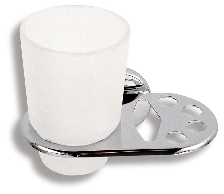 Držák kartáčků a skleničky Metalia 1 chrom