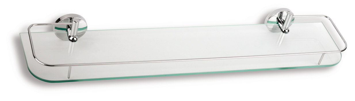 Polička s výklopným zábradlím 600 mm Metalia 1 chrom