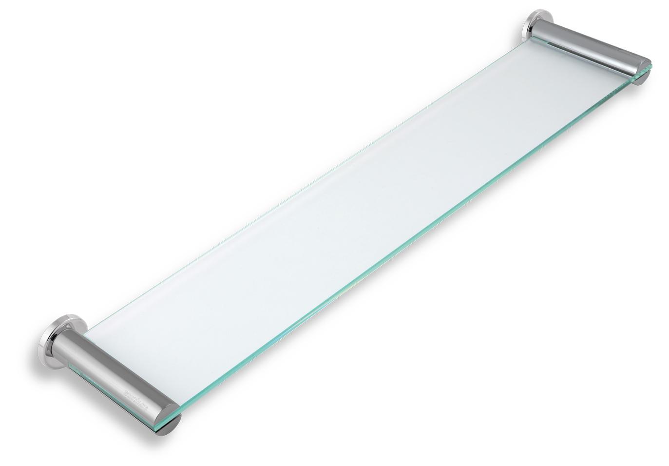 Polička rovná sklo pískované Metalia 2 chrom