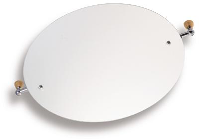 Zrcadlo s výklopným držákem ovál 60x50 cm Metalia 3 chrom