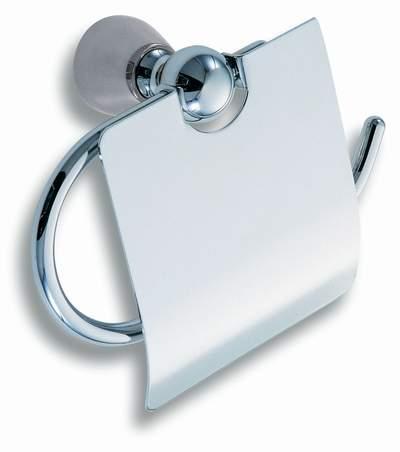 Závěs toaletního papíru s krytem Metalia 3 chrom