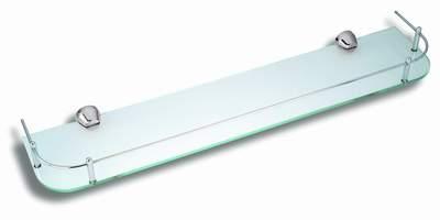 Polička zaoblená se zábradlím Metalia 3 chrom