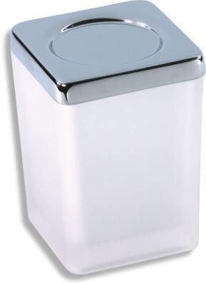 Dóza na koupelovou sůl Metalia 4 chrom