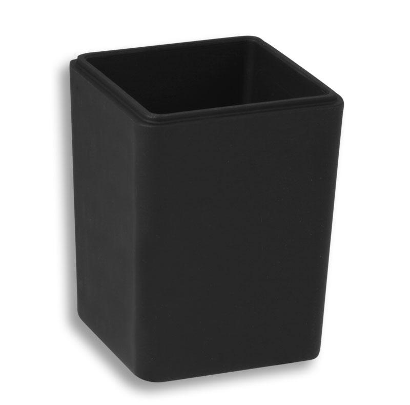 Náhradní dóza na koupelovou sůl černé sklo matované