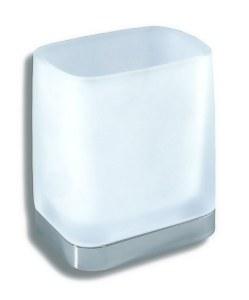 Držák kartáčků a pasty sklo Metalia 4 chrom