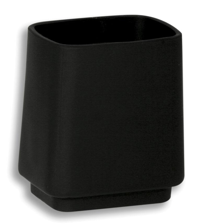 Držák kartáčků a pasty na postavení Metalia 4 černá-chrom