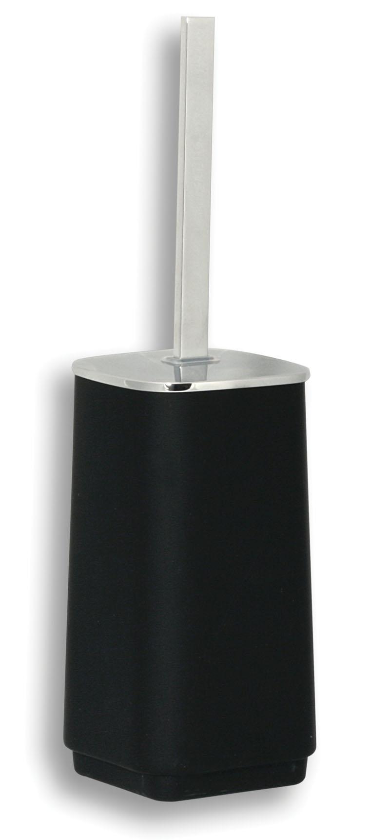 WC štětka na postavení Metalia 4 černá-chrom