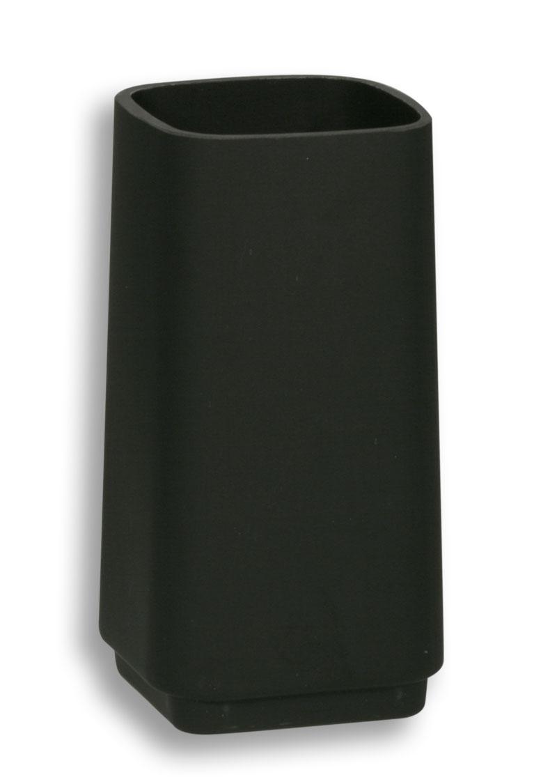 Sklo WC štětky černé sklo matované