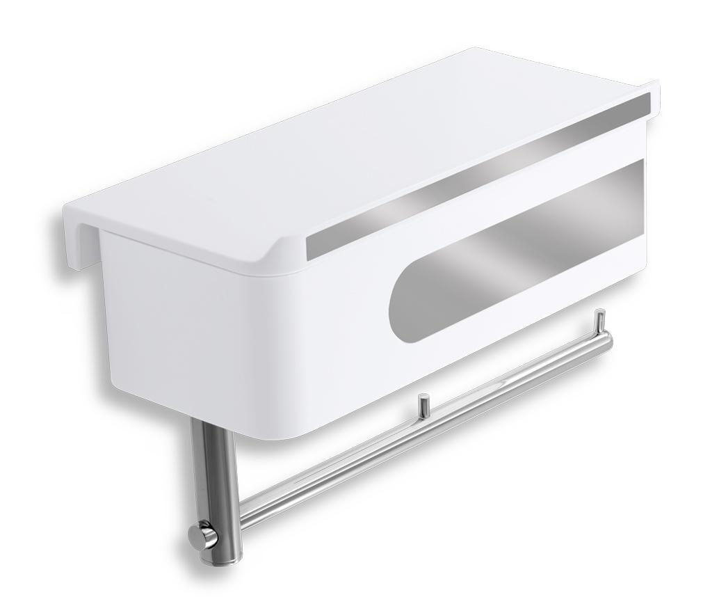 WC polička se zásuvkou a držákem toaletního papíru
