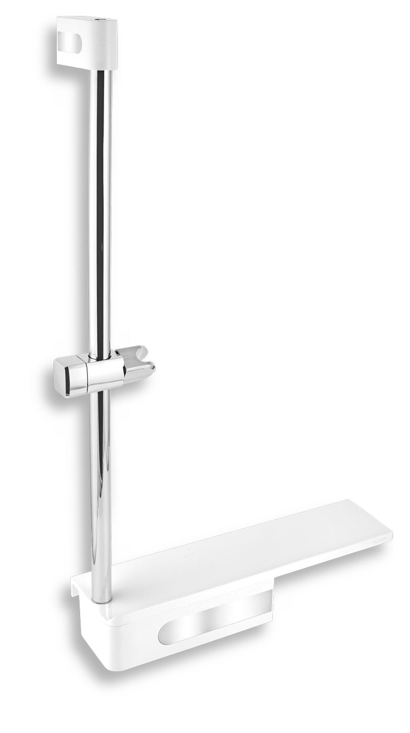 Posuvný držák sprchy s poličkou
