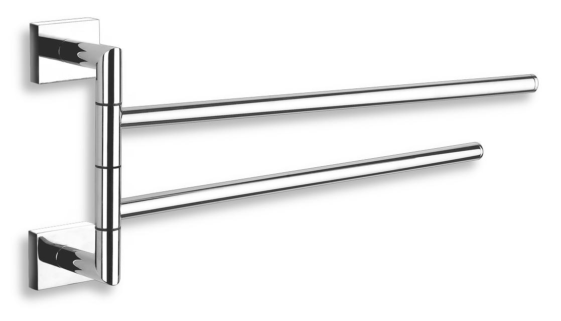 Dvojramenný držák ručníků 400 mm Titania Elis chrom