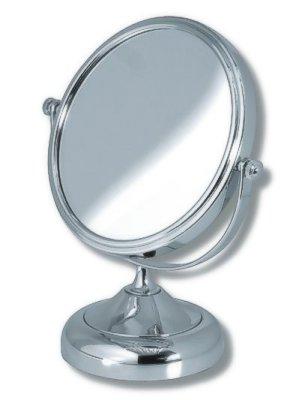 Kosmetické zvětšovací zrcátko na postavení chrom