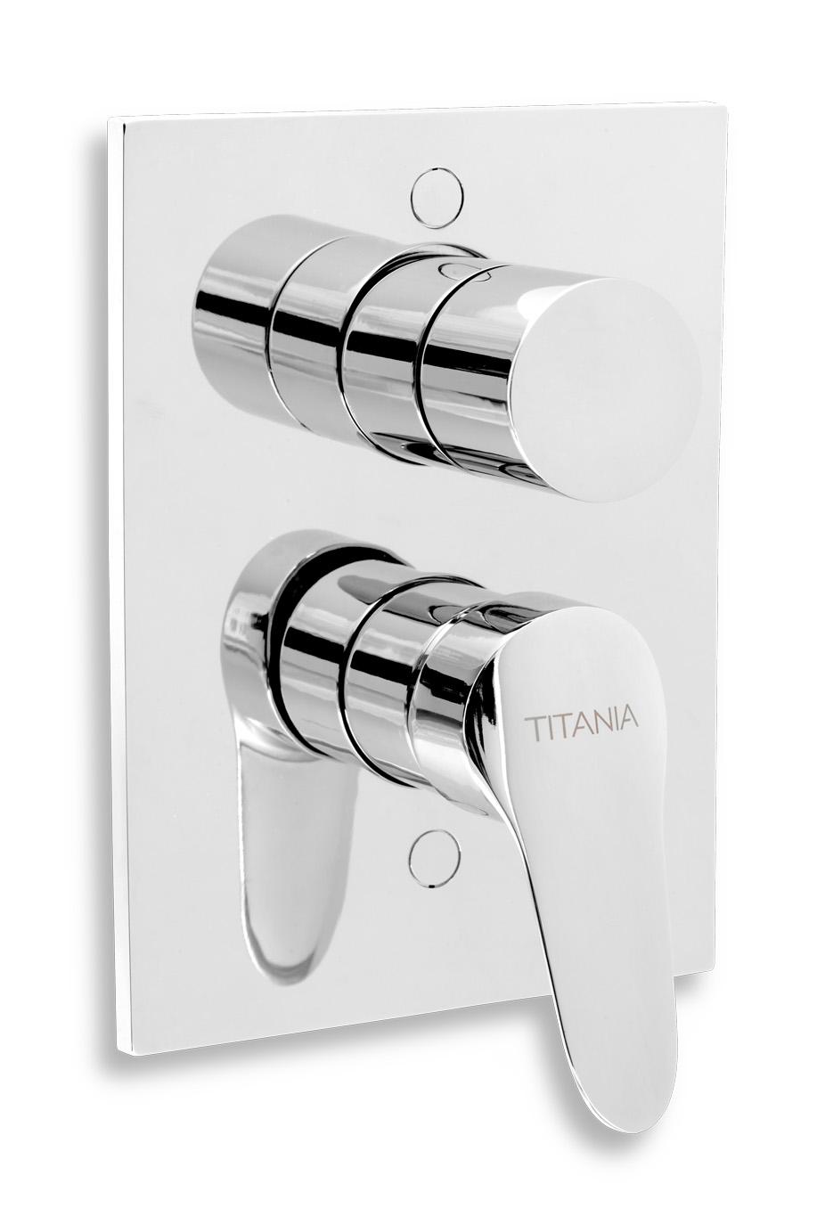 Vanová sprchová baterie s přepínačem Titania IRIS New chrom