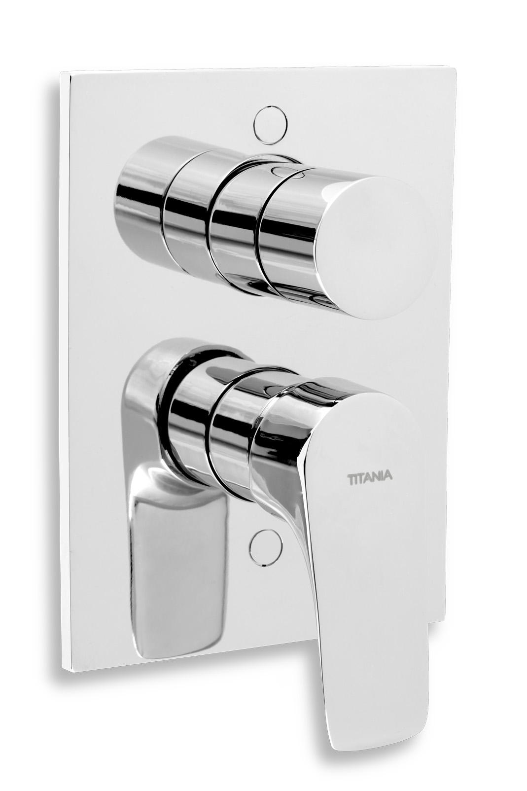 Vanová sprchová baterie s přepínačem Titania Nice chrom