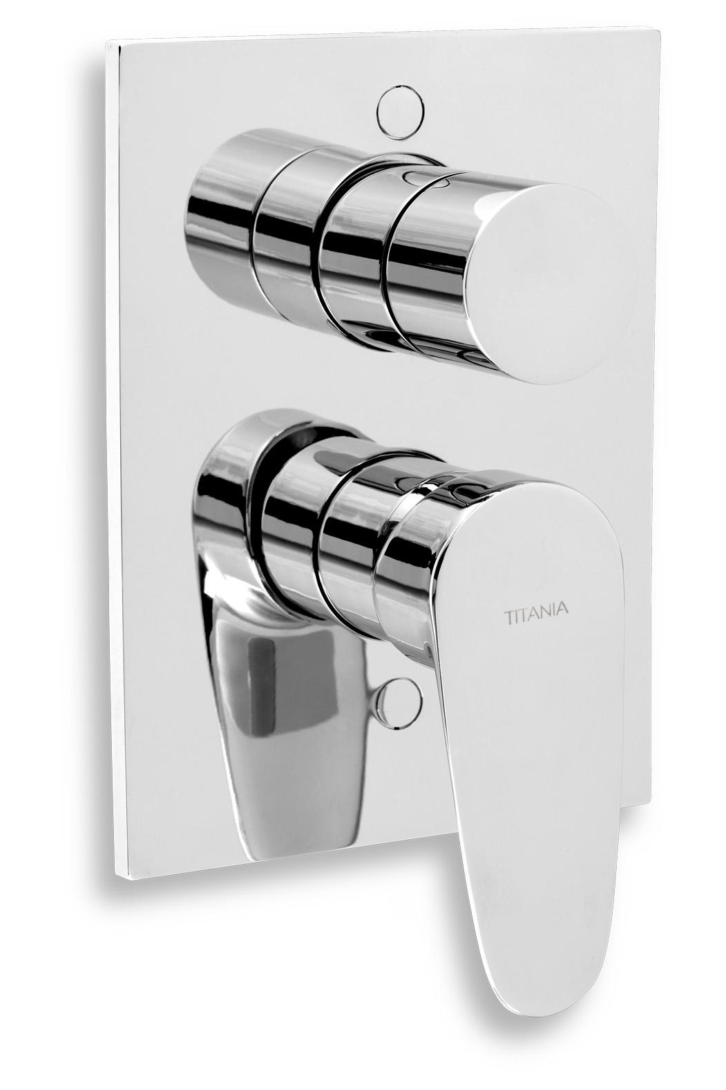 Vanová sprchová baterie s přepínačem Titania Smart chrom