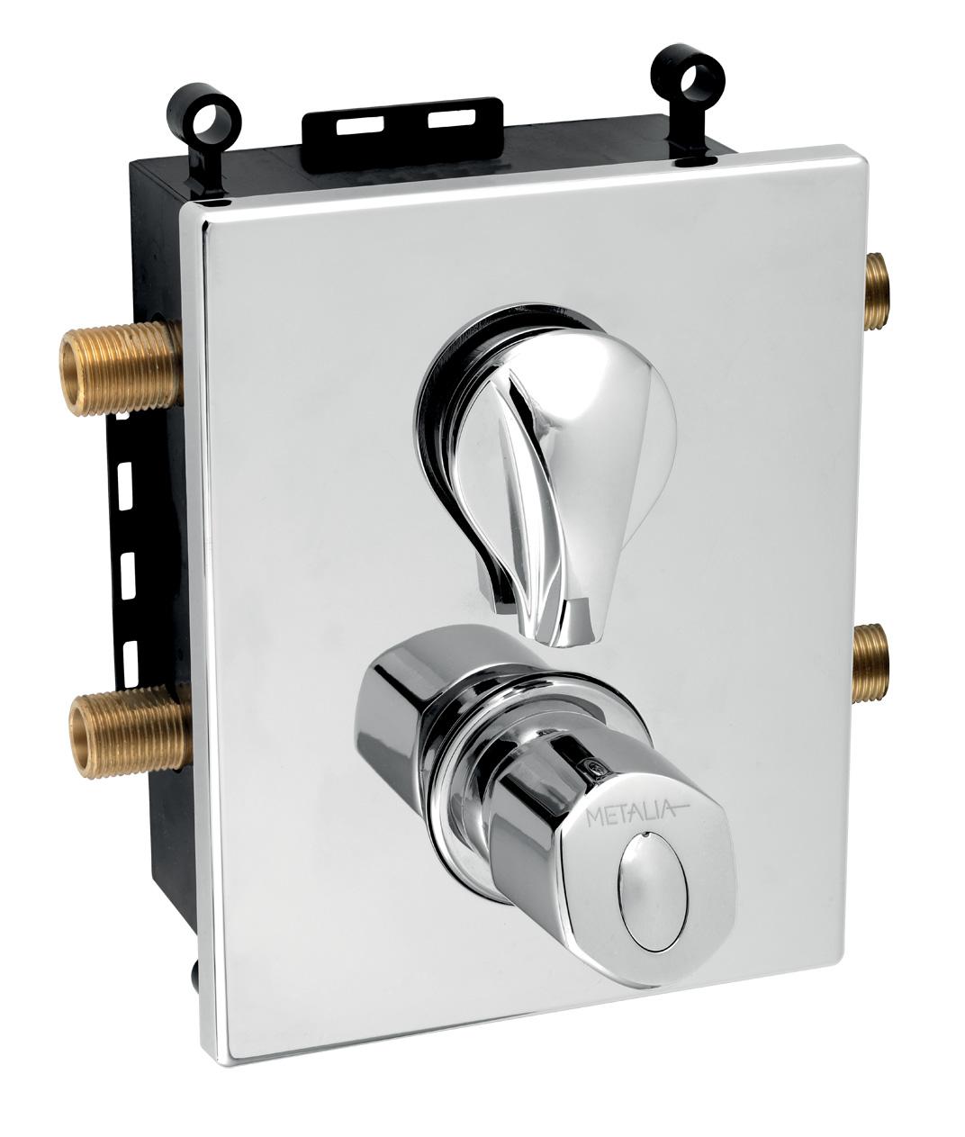 Novaservis Metalia 56 Podomietková termostatická batéria s boxom 2 vývody, BOX56052RT,0