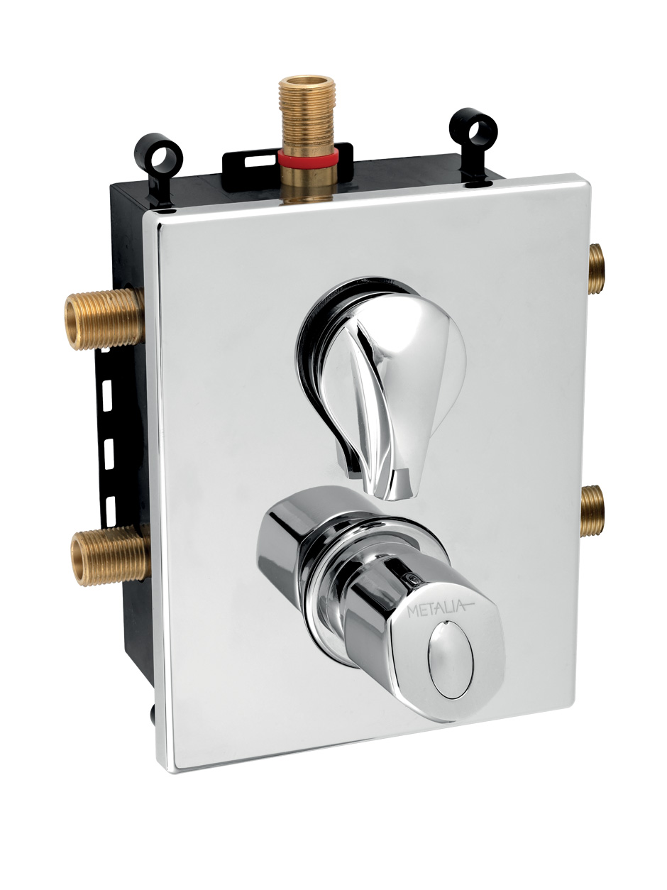Novaservis Metalia 56 Podomietková termostatická batéria s boxom 3 vývody, BOX56052RXT,0