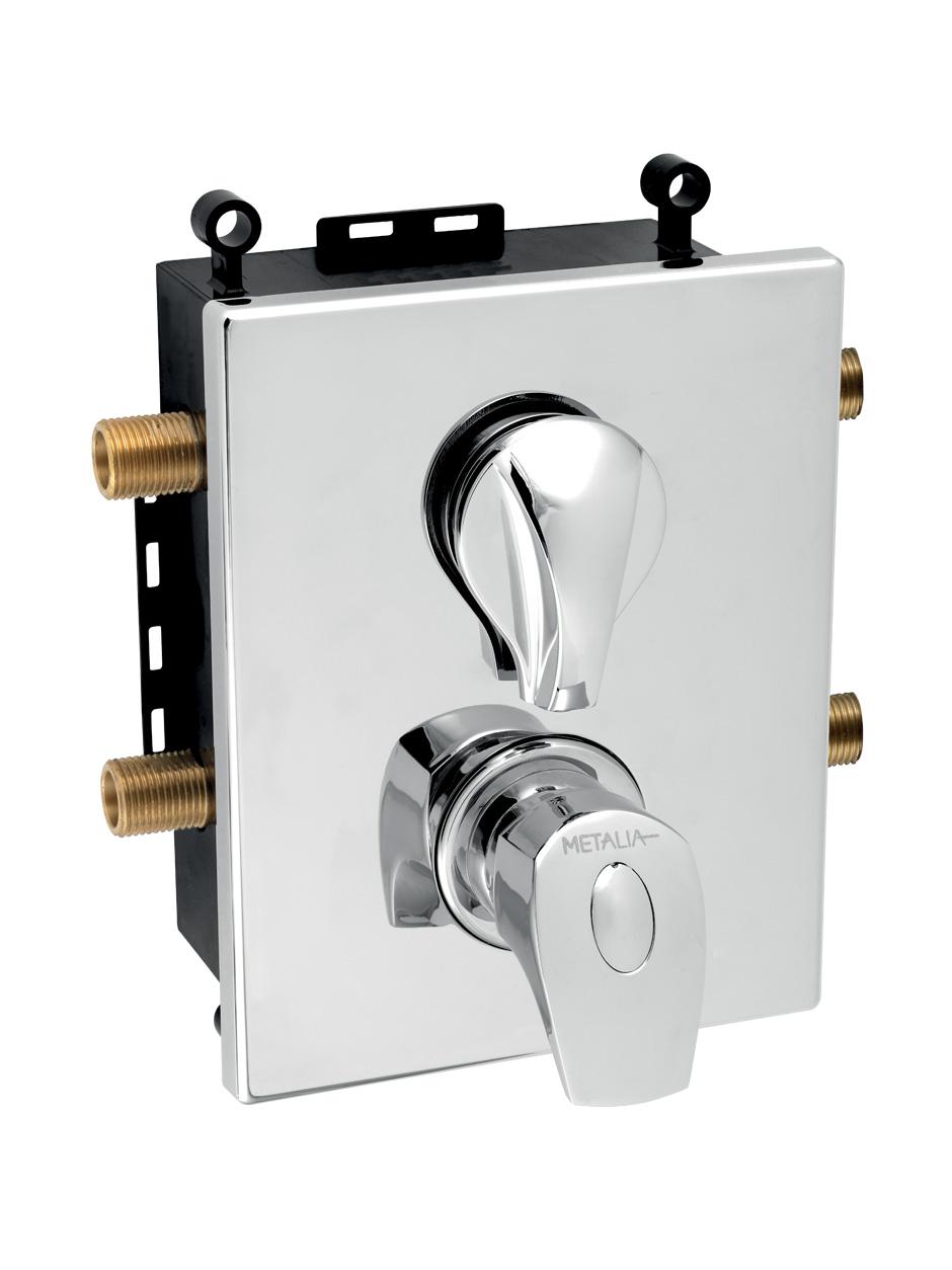 Novaservis Metalia 57 Podomietková termostatická batéria s boxom 2 vývody, chróm, BOX57052RT,0