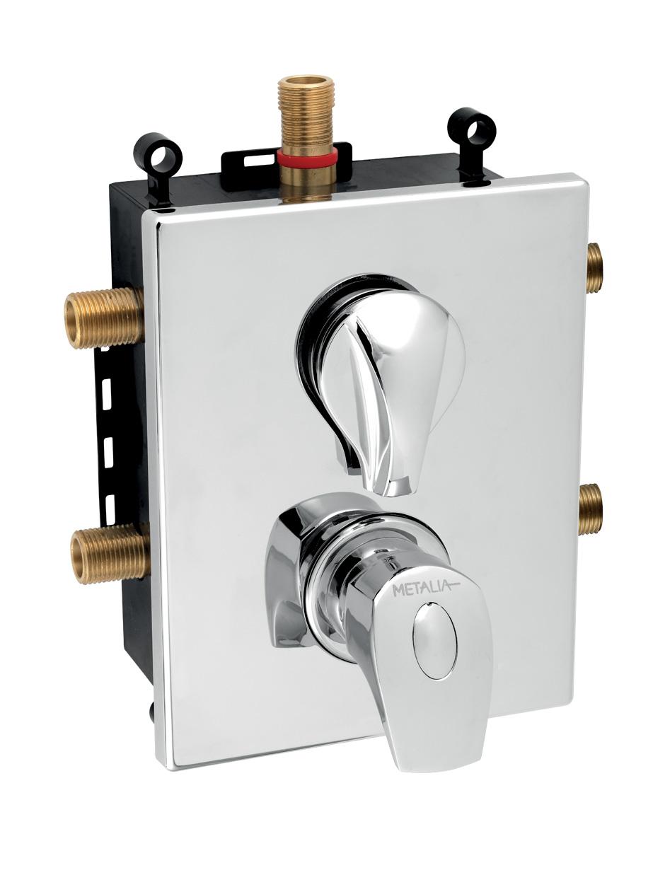 Novaservis Metalia 57 Podomietková termostatická batéria s boxom 3 vývody, chróm, BOX57052RXT,0