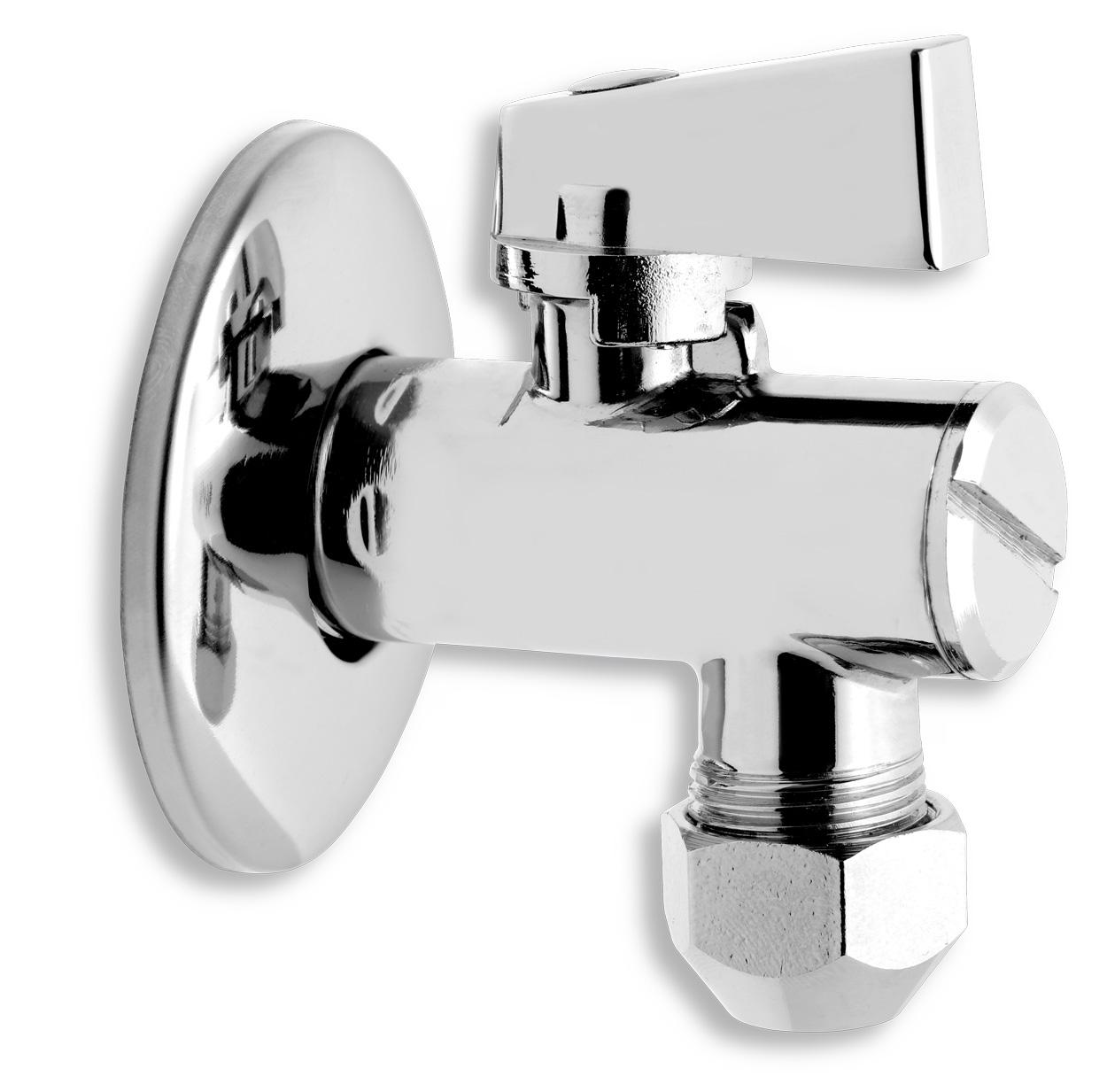 Rohový ventil s filtrem, kov pákou a převl matkou 1/2x3/8