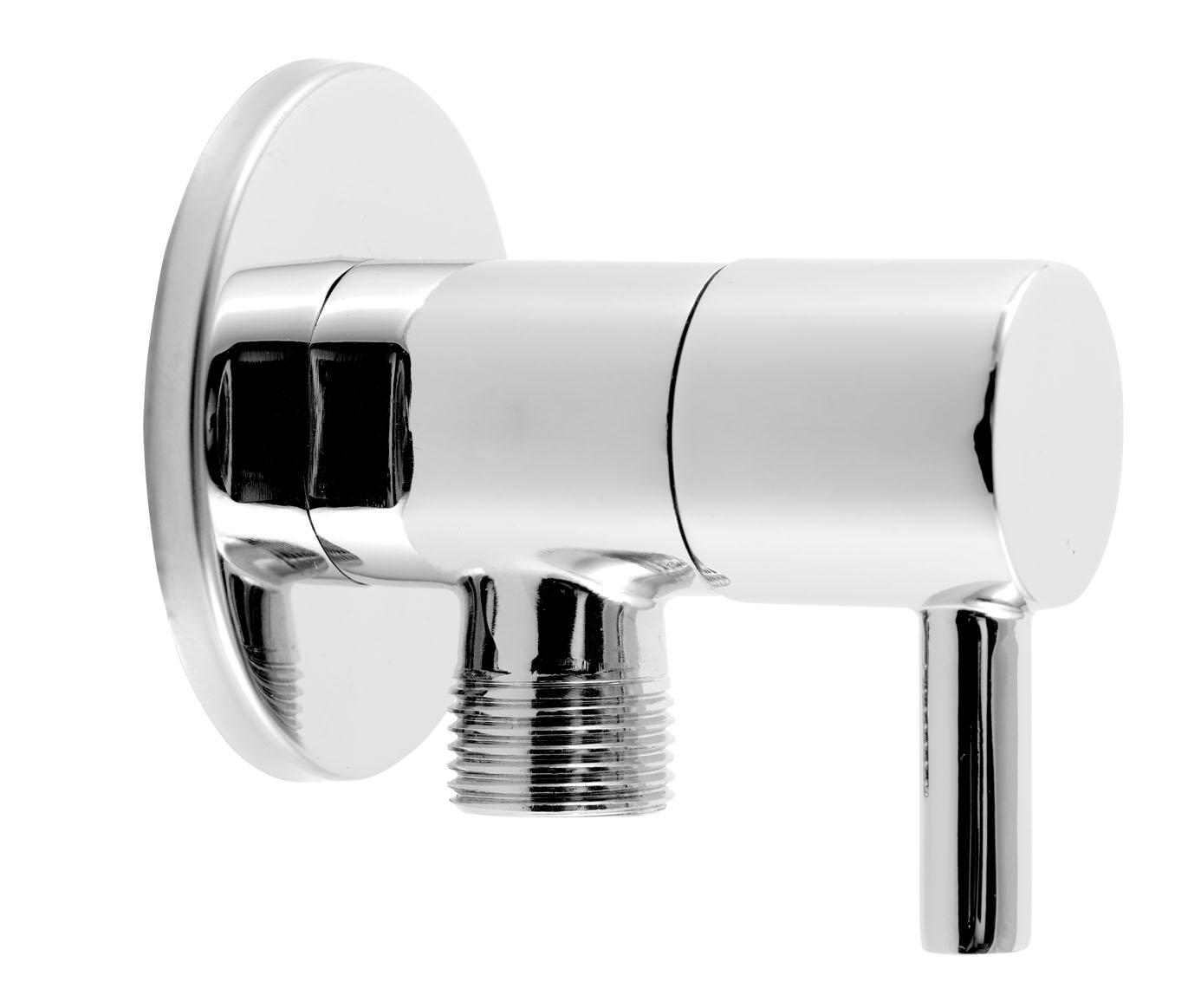 Rohový ventil keramický s krytkou a kovovou pákou 1/2x3/8