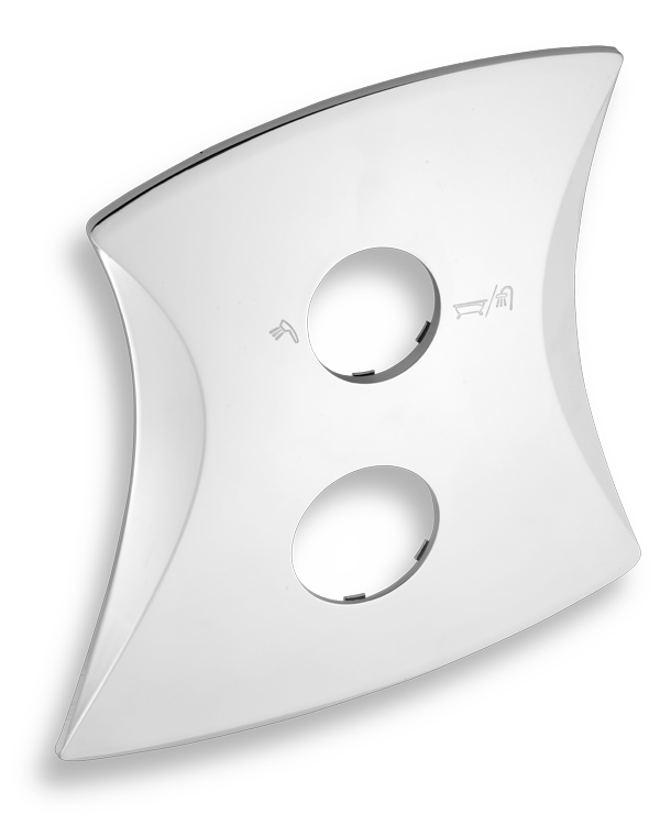 Kryt podomítkového boxu s přepínačem LINIE chrom