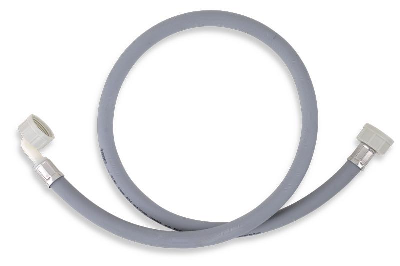 Pračková napouštěcí hadice s kolenem šedá 100cm