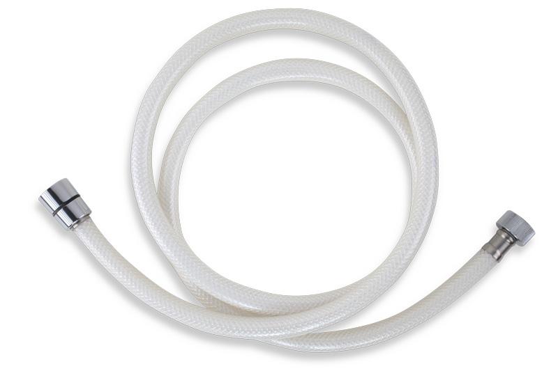 Plastová hadice 150 cm bílá-chrom