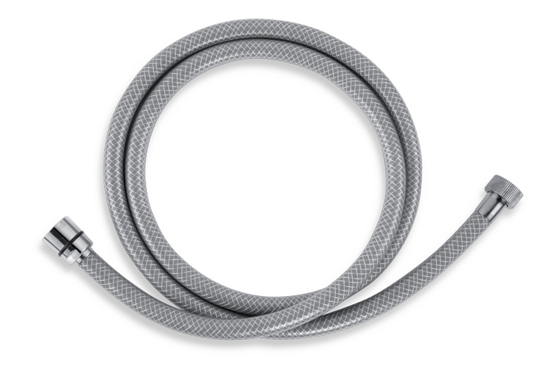 Sprchová hadice plastová 150 cm šedá