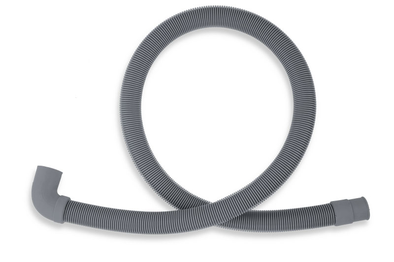 Pračková vypouštěcí hadice s kolenem šedá 100cm