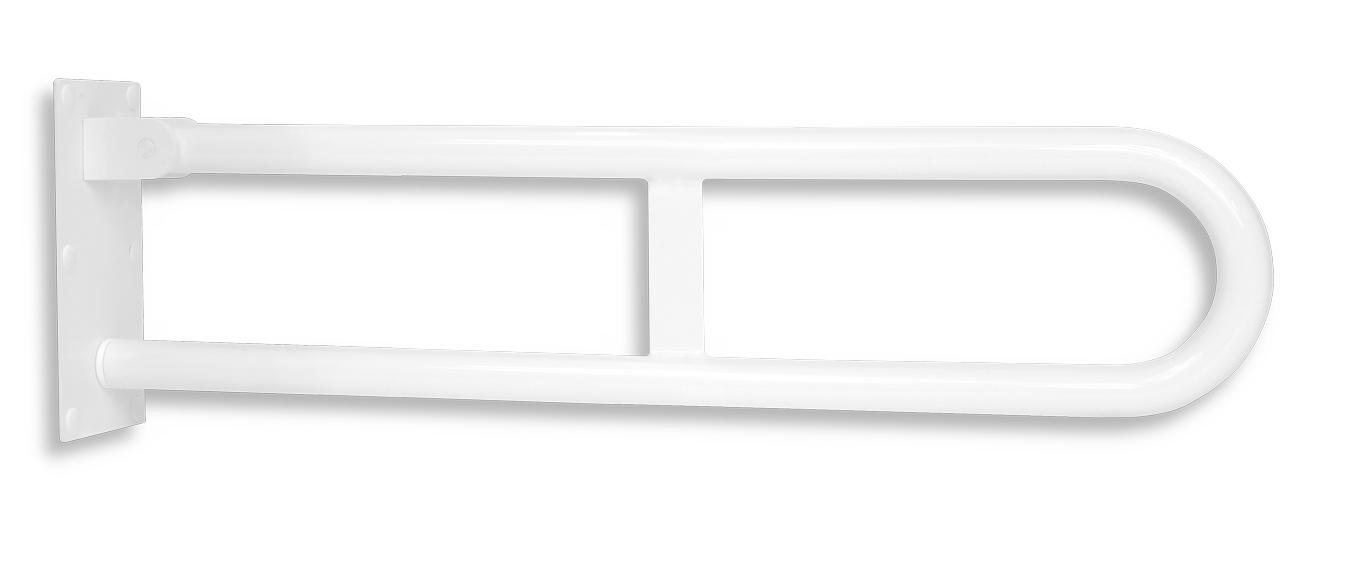 Úchyt dvojitý sklopný 572mm bílý