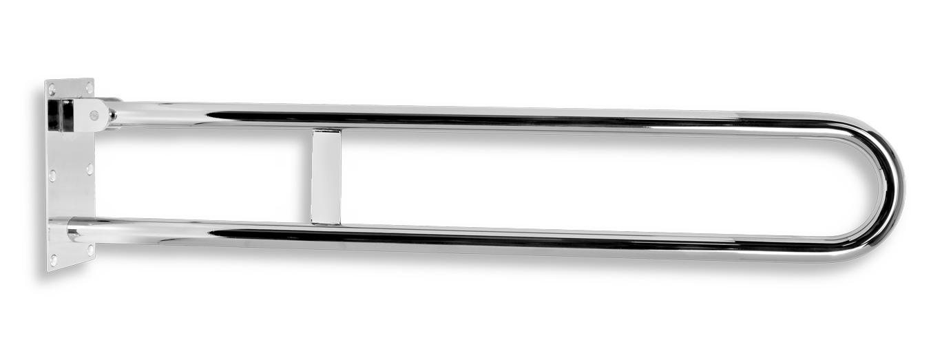 Úchyt dvojitý sklopný 852mm leštěná nerez