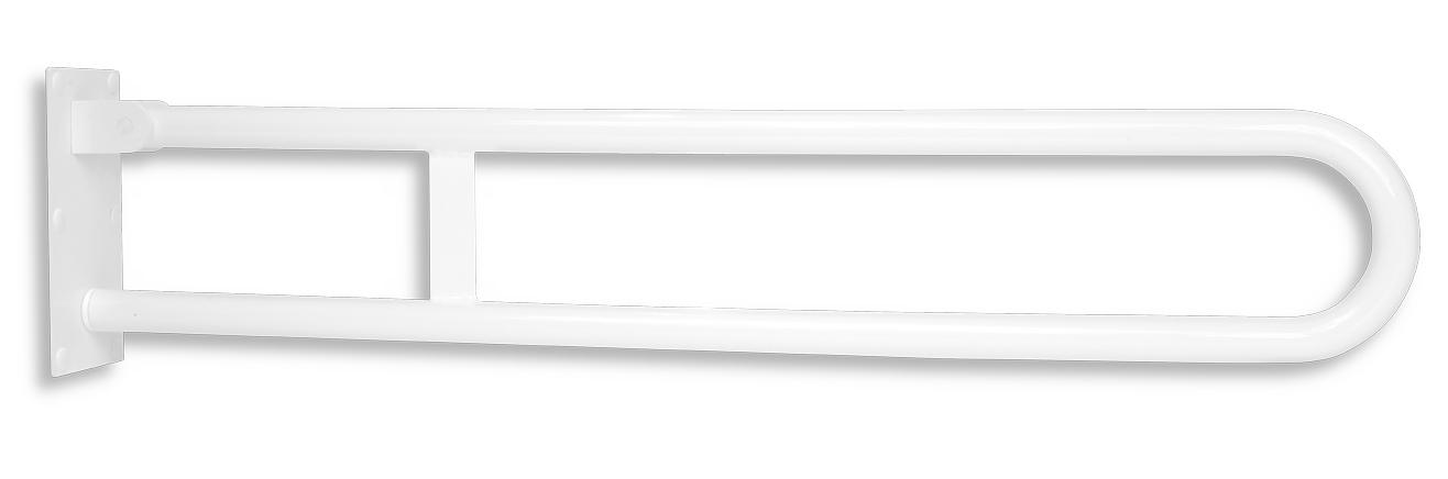 Úchyt dvojitý sklopný 852 mm bílý